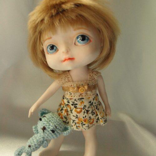 Кукла шарнирная, полиуретан, авторская работа, игровая кукла