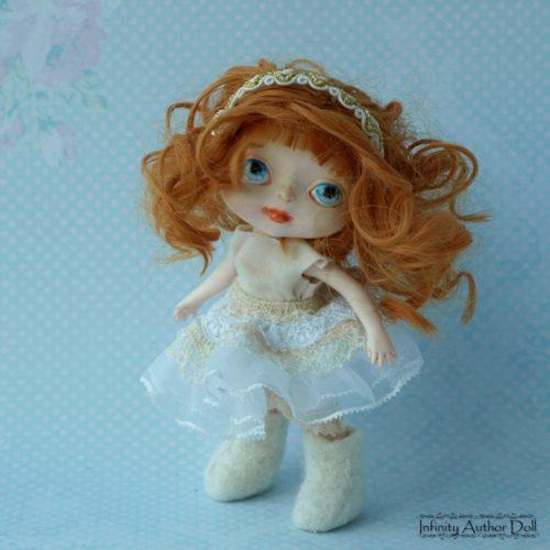 Кукла ручная работа, материал-полиуретан, игровая