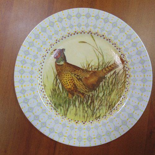 тарелка декоративная, декупаж, ручная работа
