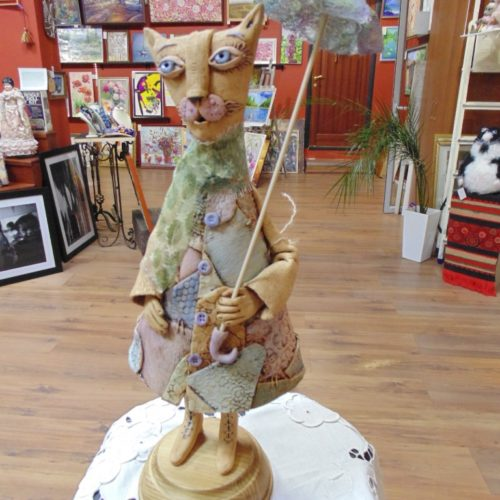 глиняная статуэтка, сувенир, ручная работа