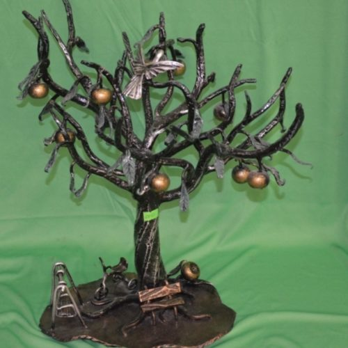 дерево, яблоня, металл, ковка