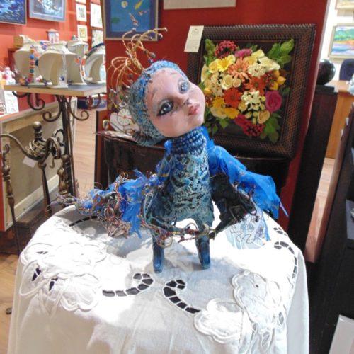алконост, кукла авторская, кукла фантазийная, полимерная глина