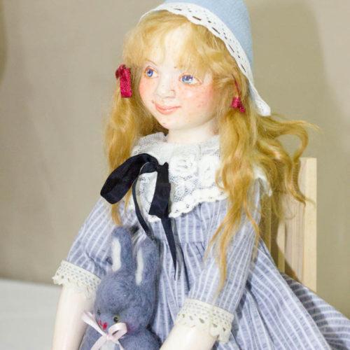 Кукла ручной работа, полимерная глина, авторская кукла, коллекционная кукла, интерьерная кукла, будуарная кукла