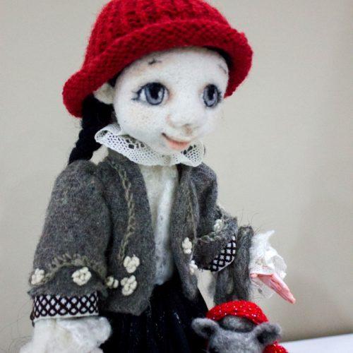 авторская кукла, сухое валяние, интерьерная кукла, интерьер