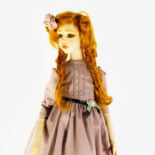 Эксклюзивная кукла ручной работы. Текстиль, пластик. Коллекционная