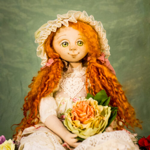 текстильная, коллекционная кукла
