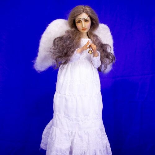 Коллекционная кукла. Эксклюзивная кукла. Куклы из полимерной глины. Подарок для девушки. Отличное украшение для дома. Ангел
