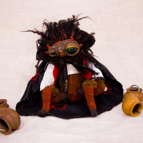 Милый дьяволёнок, сувенир. Идеальный подарок. Коллекционные куклы. Подарок для семьи