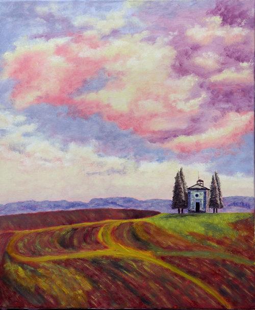 Картина Розовые пихты