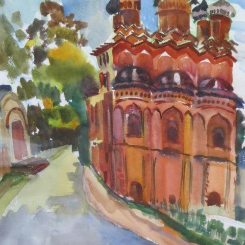 Акварельный рисунок Великий Новгород