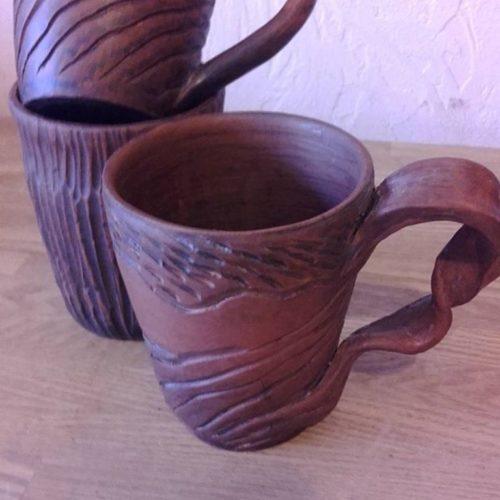 Кружка керамика, ручная работа, молочный обжиг