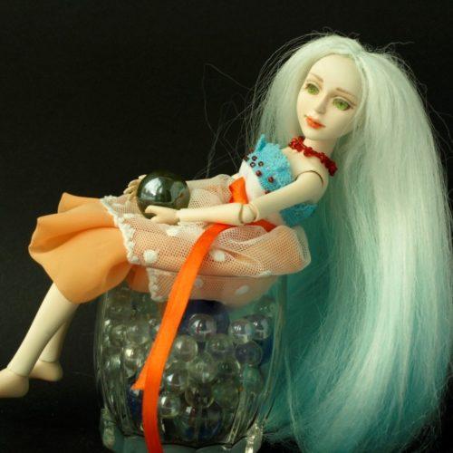 Шарнирная кукла, полиуретан, авторская работа, интерьерная кукла, игровая кукла