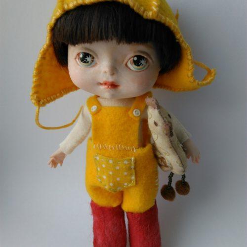 кукла мальчик, полиуретан, авторская работа
