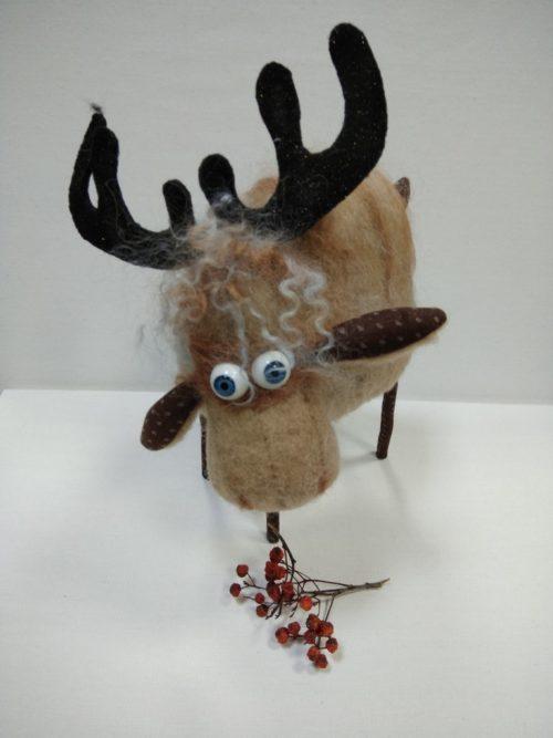 текстильная кукла, лось