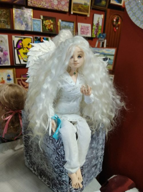 Ангел, полимерная глина, авторская кукла