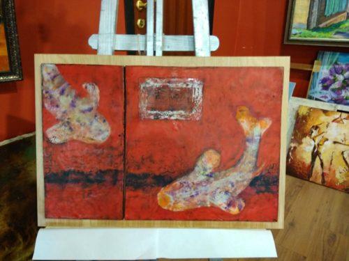 энкаустика, картина в интерьере