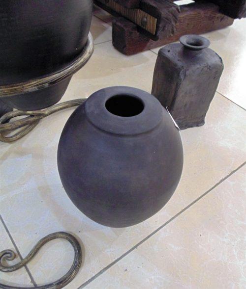 ваза, чернолощеная