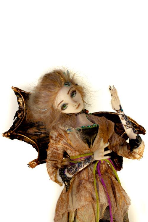 дракон, девочка-дракон, авторская кукла, необычная кукла, необычный подарок, подарок, интерьерная кукла