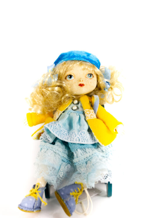 шарнирная кукла, авторская кукла, школьница, подарок