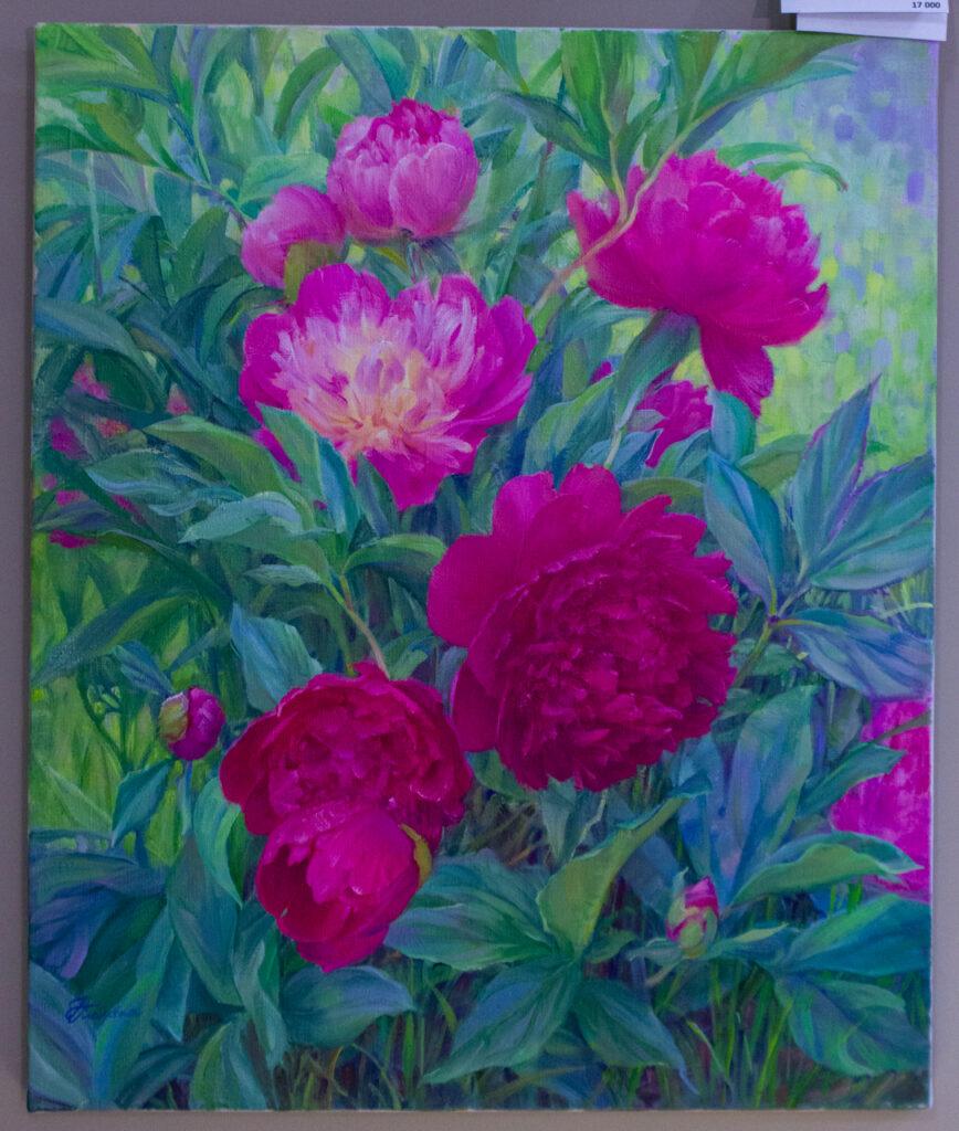Пионы, яркие пионы на картине, картина с пионами, цветы на картине, картина с цветами, цветы в подарок, пионы в подарок, пионы в доме, интерьер, подарок