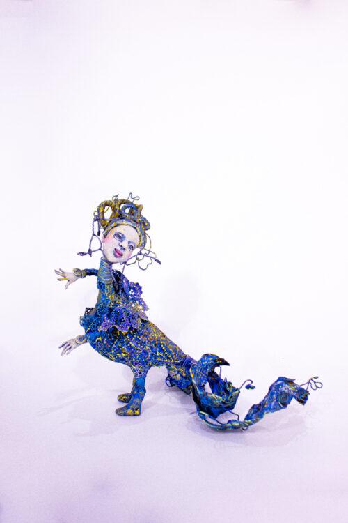 Птица счастья, феникс, синяя птица, подарок со смыслом, авторская кукла, необычный подарок, кукла в подарок