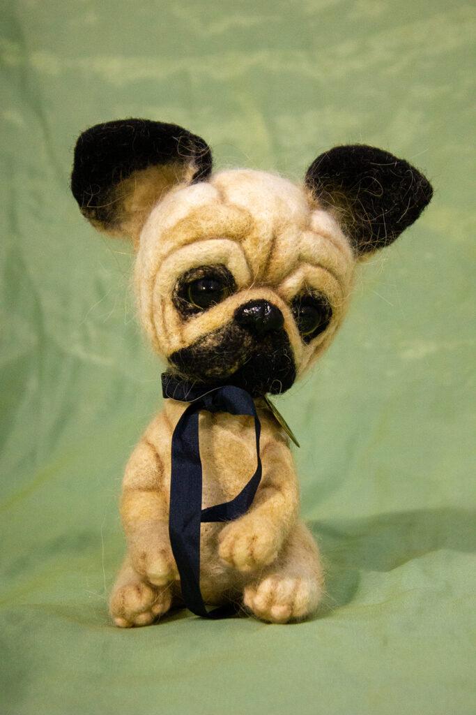 мопс, собака, авторская кукла, подарок