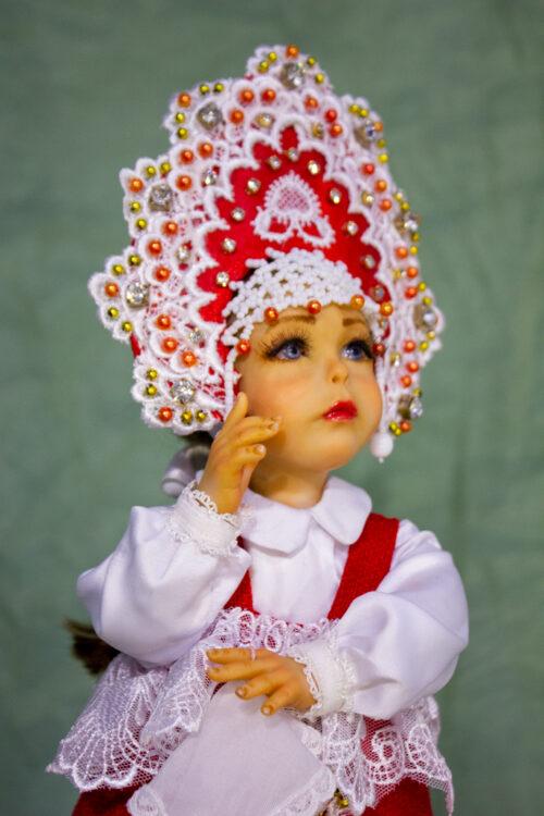 кукла в русском наряде, народная кукла, русская красавица, авторская куклаЮ коллекционная кукла, кукла в кокошнике, подарок