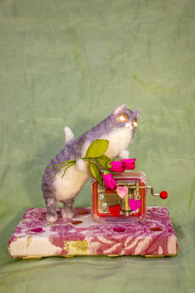 музыкальная шкатулка, подмосковные вечера, котик, подарок на день рождение, подарок