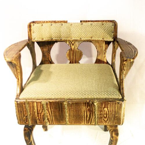 Кресло из лиственницы, ручная работа