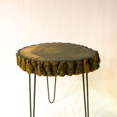 Столик из тополя, чёрный