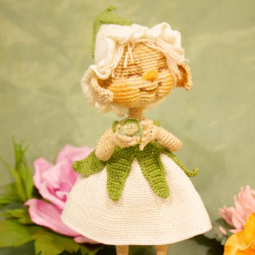 колокольчик, миниатюра, мини куколка, кукла в подарок, подарок, подарок девушке