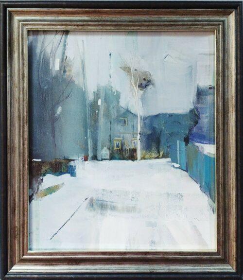 живопись, зима, маленькая картина, картина маслом