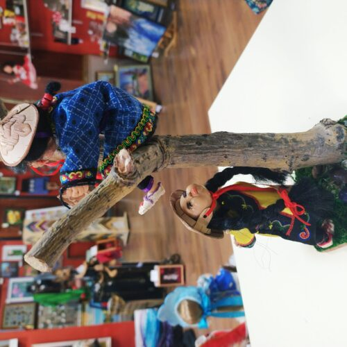 брат и сестра, авторская кукла, национальная кукла