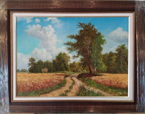 лес, картина маслом